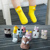 Newborns Socks Autumn Winter Cute Cotton Cartoon 3D Animal P...
