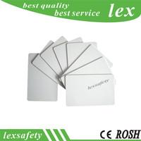 Imprimé Remise 100pcs / lot TK4100 / EM4100 125khz vierge Proximité Thin Card ID en plastique PVC Blanks Cartes Imprimable carte blanche