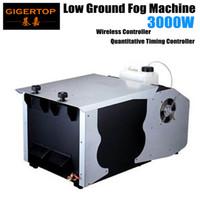 Freeshipping 3000W Macchina nebbia a basso terra DMX512 / Telecomando Controllo continuo a secco Ghiaccio a secco Stage Macchina per fumo