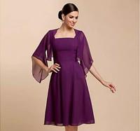 Le giacche da sposa di alta qualità avvolgono la sera in chiffon a metà manica sera / involucri casual Giacca da sera (più colori) Bolero Shrug