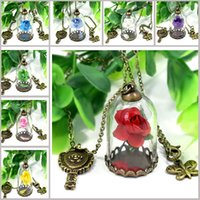 New Beauty And The Beast Necklaces Children Bronze Pendant K...