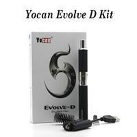 1 ADET Yocan Evolve-D Kiti Evolve Kitleri Yocan Evolve D Kiti Kuru Herb Buharlaştırıcı Pancake Çift Bobinlerle Çift Bobin 650mAh Pil Kitleri