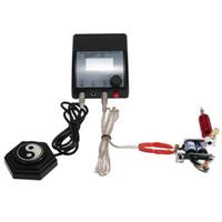 Doppel Ausgang Digital Tattoo Netzteil für Tattoo Maschine Speed Control LED-Licht EU-Stecker-Tätowierung-Zusätze Freies Verschiffen