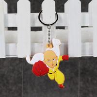 Розничные 7см Один Удар Человек брелок ПВХ фигурку игрушки Подвеска Модель игрушки 10pcs / серия Свободная перевозка груза