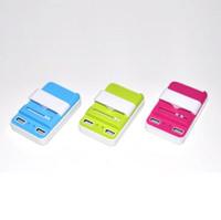 Evrensel Çift port USB Pil Şarj Mobil Pil dock şarj ile ABD tak Duvar Seyahat Şarj samsung iphone 6 için 7