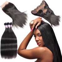 Badshop Straight Lace Frontal Peruvian Virgin Hair With Lace...