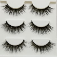 Pure Hand Cotton Thread False Eyelashes Messy Soft Natural T...