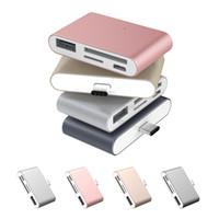 USB Tipo-C Cartão De Memória Adaptador Leitor Adaptador USB Micro USB TF SD Card Tipo C hub com OTG Para Macbook air Pro Tablet