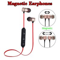 Magnetic Bluetooth Headphones Headset Sports Wireless Metal ...