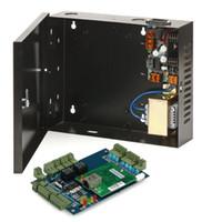 لوحة التحكم في الوصول إلى TCP / IP 2 أبواب مع 220V إلى DC 12V مزود الطاقة لون أسود الطاقة 30-60W صندوق لنظام التحكم في الوصول