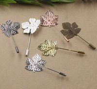 50MM 29*32MM Silver Rose gold Antique bronze metal maple lea...