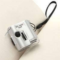 뜨거운 판매 60X 현미경 조명 돋보기 유리 보석 루페 렌즈 LED UV 시계 수리 도구