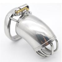 Nuovo design 60mm maschio castità dispositivo gabbia in acciaio inox 3 dimensioni (40/45 / 50mm) anello di chiusura può essere aperto