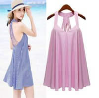 New Summer Plus Size Women' s Dress Lady' s Stripe V...