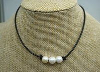 JLN High Luster Three PCS Of White Cultured Freshwater Pearl...