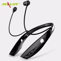 Auriculares deportivos inalámbricos de Zealot H1 Auriculares Bluetooth portátiles plegables a prueba de agua con el micrófono para usar el auricular estéreo