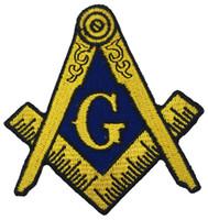 Распродажа! Масонская Логотип патч Вышитые Iron-On Одежда масоном Lodge Emblem Mason G Square Compass Patch Шить на любой одежды