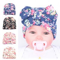 Sweet Newborn Baby girl hat knit cotton bow hat Cap Small fl...