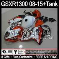 8Gifts för glans Orange Suzuki Hayabusa GSXR1300 08 15 GSXR-1300 14MY177 GSXR 1300 GSX R1300 08 09 10 11 12 13 14 15 Fairing Orange White
