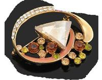 broche colorido do peito das menwomen de cristal (53mm * 45mm) ming)