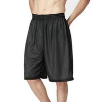 Al por mayor-2016 recién llegado de blanco y negro de doble cara Baloncesto Pantalones cortos hombres sueltan sólido gran tamaño hombres cortos 1 pieza 8 colores
