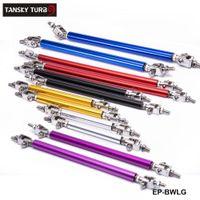 TANSKY - 2PCS / SET 유니버설 레이싱 75mm 전면 범퍼 립 스플리터 막대 스트럿 타이 막대 지원 키트 범퍼 EP-BWLG75