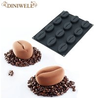 Bakery 1 Pcs Silicone 12 Cavity Coffee Beans Design Mold For...