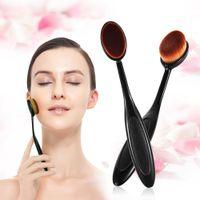 Макияж кисти хром набор инструментов круглая трубка для женщин косметический макияж пудра румяна зубная щетка кривая Фонд кисть