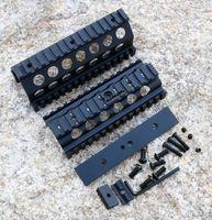 Алюминий с ЧПУ M249 Нижняя и Верхняя Scope Mount цевье RIS Рельсы система Охота Стрельба Tactical Quad Rail Mount