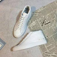 Common Projects by women all white Genuine Leather high top ...