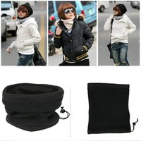 Wholesale- 1 pc Polar Fleece Neck Warmer Snood Scarf Motorbike Mask Mens Ladies Unisex ring wrap 9 colors hot selling