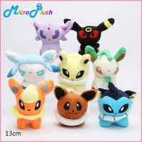 8pcs lot eevee Plush Toys Umbreon Eevee Espeon Jolteon Vapor...