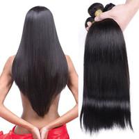 Capelli umani brasiliani diritti 3 pacchi a buon mercato Tessuto brasiliano vergine dei capelli non trattata estensioni vergini dei capelli umani di colore naturale