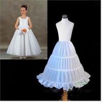 Tres aros de la ropa interior barata de la enagua de las niñas pequeñas vestidos de las niñas vestido de bola de la cintura elástica vestido de las muchachas de la flor Accesorios