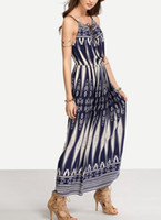 2017 внешняя торговля горячий стиль Досуг печать талии платья Пляж богемного платья