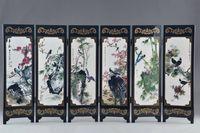 Art classica lacca cinese lacca per la pittura della pittura dell'uccello dell'uccello della schermata di buon auspicio