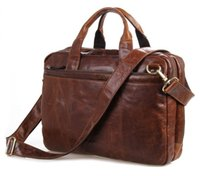 Top quality 100% Leather Men' s Brown Laptop Bag Handbag...