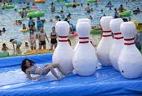 (متجر متخصص) قابل للنفخ زجاجة البولينج التبعي لزورب الكرة 1.5 م و 2 م هايت الحديقة المائية اللعب في الهواء الطلق