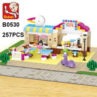 Sluban Building Blocks B0530 257pcs Open- air Restaurant 3d m...