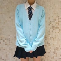 Wholesale- Fashion autumn japanese style students school uniform long sleeve girl cute open cardigan