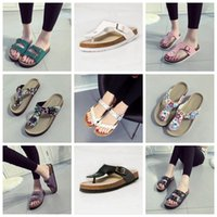 Flip Flops Summer Cork Slipper Woman Flats Sandals Antiskid Slippers Пляжная обувь Casual Cool Slipper 19 Цвета 2шт / пара OOA1669