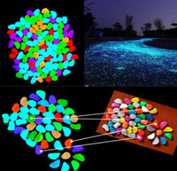 5pcs Glow In The Dark Pebbles Stone Home Decor Walkway Aquar...