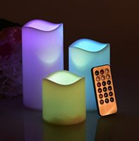 Wax Flameless LED Candles light With Remote Control Timer 3 ...