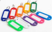 En plastique bon marché en gros étiquettes d'identification de clé Étiquette de cartes Chaîne principale nommée d'anneau avec des cartes nominatives