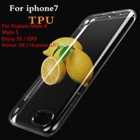 Per Huawei Mate 8 Mate S Enjoy 5S / GR3 Custodia in TPU Honor 5X / GR5 Ultra Sottile Trasparente Custodia in silicone Trasparente Cover posteriore