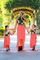 2017 Family Matching Outfits Mother And Daughter Flower Dres...