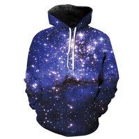 Felpe con cappuccio per uomo 3D Universo / Galaxy / Felpe con cappuccio cielo stellato Felpe con maniche lunghe Pullover S-6XL uomo con tuta sportiva casual LMS02 RF