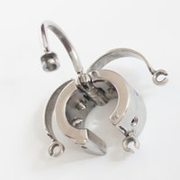 Stealth Lock Stainless Steel Heavy Scrotum Pendant, Ball Str...