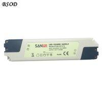 SANPU pc60-W1V12 Светодиодный источник питания 12V 60W Трансформатор Max 5A Driver Белый пластиковый корпус IP44 для Indoor светодиодов Лампы