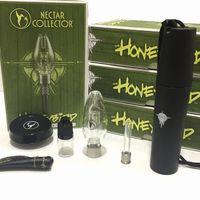 Nuovo design Honeybird pipa ad acqua in vetro kit completo con punta in titanio quarzo punta e tubo di punta di fumare ceremic kit NC in magazzino